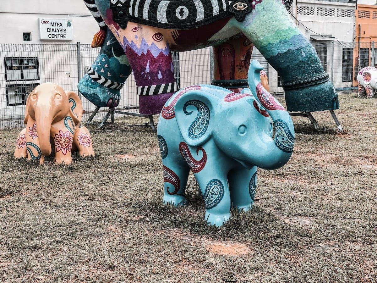Kunst in der Hindoo Road,Sehenswürdigkeiten in Singapur, Reisetipps für 3 Tage Singapur, Little India, Chinatown, Kampong Glam, arabisches Viertel, Marina Bay, Singapur Tipps
