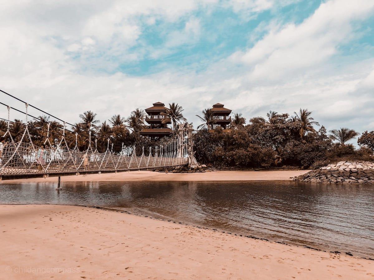 Palawan Beach auf Sentosa, Singapur Strände, Singapur Sehenswürdigkeiten
