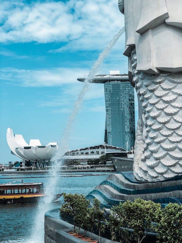 Merlion Singapur Löwe Statue